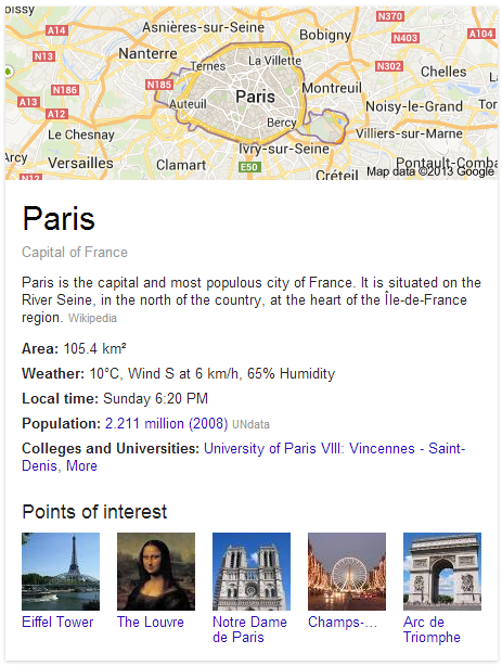 Google Search - Paris